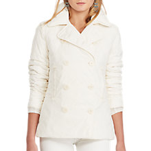 Buy Polo Ralph Lauren Double-Breasted Coat, Essex Cream Online at johnlewis.com