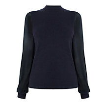 Buy Warehouse Woven Sleeve Jumper Online at johnlewis.com
