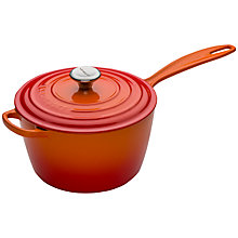 Buy Le Creuset Cast Iron Saucepan, Volcanic Online at johnlewis.com
