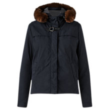 Buy Jigsaw Short Parka, Navy Online at johnlewis.com