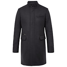 Buy Ted Baker T for Tall Logantt Funnel Neck Overcoat, Grey Online at johnlewis.com
