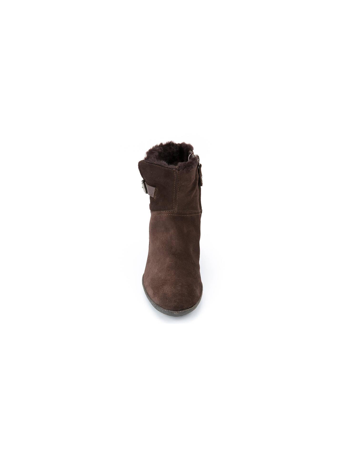 ... BuyGeox Amelia Wedge Ankle Boots, Coffee, 3 Online at johnlewis.com ... 3b6f8e913123