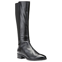 Buy Geox Felicity D Block Heeled Knee High Boots, Black Online at johnlewis.com