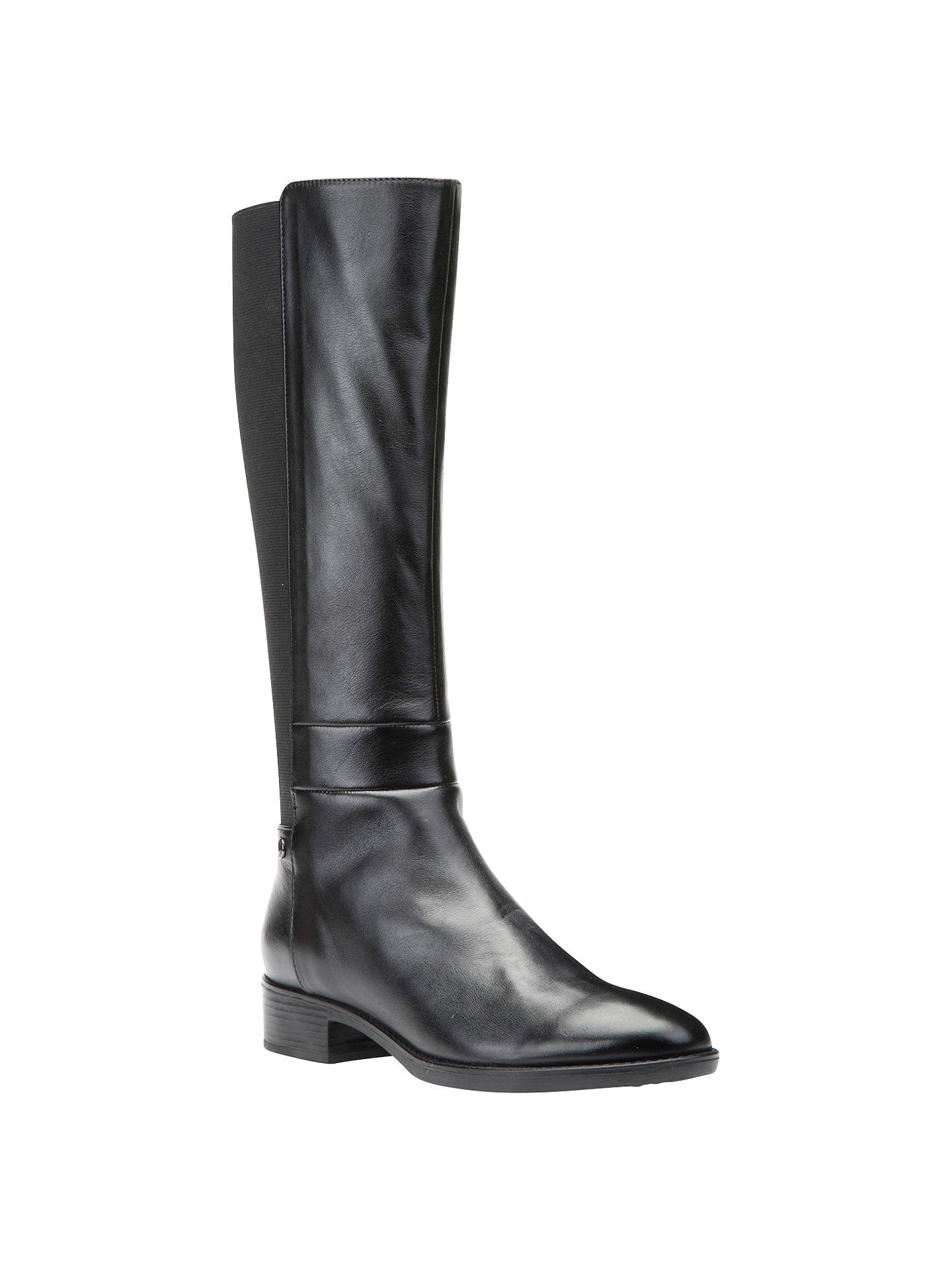 e2683e5d604bf Buy Geox Felicity D Block Heeled Knee High Boots, Black, 3 Online at  johnlewis ...