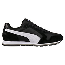 Buy Puma ST Runner Suede Trainers, Black/White Online at johnlewis.com