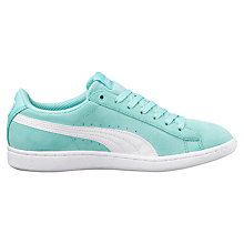 Buy Puma Vikky Women's Trainers, Blue/White Online at johnlewis.com