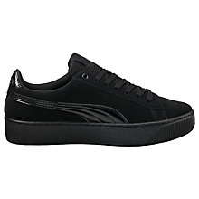 Buy Puma Vikky Platform Women's Trainers, Black Online at johnlewis.com