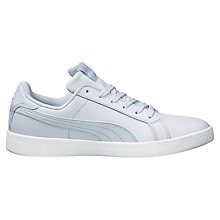 Buy Puma Smash Women's Trainers, Blue/White Online at johnlewis.com