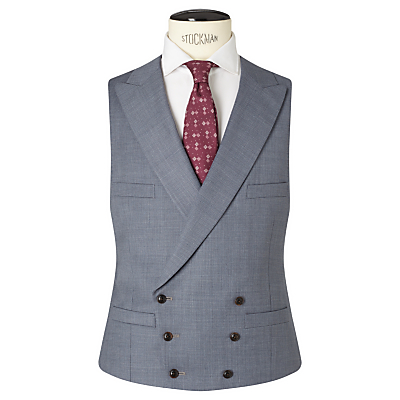 1920s Mens Clothing JOHN LEWIS  Co. Drayton Wool Crossweave Tailored Waistcoat Smokey Blue £100.00 AT vintagedancer.com