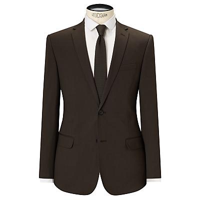 Kin by John Lewis Collet Stretch Cotton Slim Fit Suit Jacket, Khaki