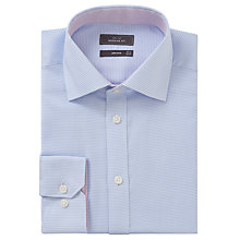Buy John Lewis Non Iron Puppytooth Regular Fit Shirt, Sky Online at johnlewis.com