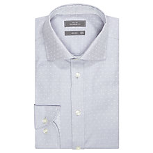 Buy John Lewis Jacquard Dot Tailored Shirt, Grey Online at johnlewis.com