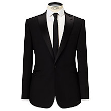 Buy Kin by John Lewis Fenn Jacquard Slim Fit Dress Suit Jacket, Black Online at johnlewis.com
