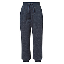 Buy John Lewis Boys' Flecked Textured Joggers, Navy Online at johnlewis.com