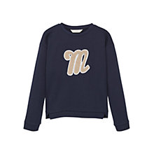 Buy Mango Kids Girls' Logo Cotton Sweatshirt Online at johnlewis.com