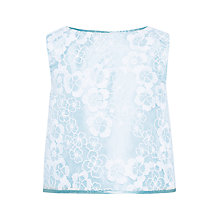 Buy John Lewis Heirloom Collection Girls' Floral Organza Top, Blue Online at johnlewis.com