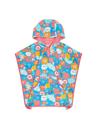 Buy John Lewis Children's Tropical Towelling Swim Poncho, Multi, S Online at johnlewis.com