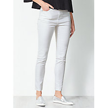 Buy Collection WEEKEND by John Lewis Skinny Twill Jeans, White Online at johnlewis.com