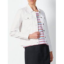 Buy Collection WEEKEND by John Lewis Lola Denim Jacket, White Online at johnlewis.com