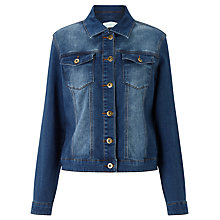 Buy Collection WEEKEND by John Lewis Stretch Denim Jacket, Mid Blue Online at johnlewis.com