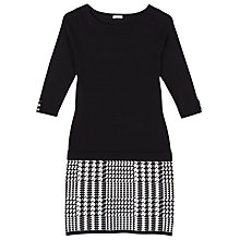 Buy Precis Petite Lacy Houndstooth Dress, Black Online at johnlewis.com