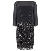 Buy Mint Velvet Layered Sequin Dress, Grey Online at johnlewis.com