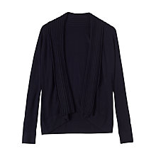 Buy Precis Petite Nancy Ribbed Detail Long Cardigan, Navy Online at johnlewis.com