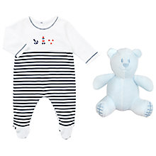 Buy Emile et Rose Baby Kenzie Nautical Romper, Navy/White Online at johnlewis.com
