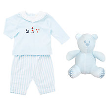 Buy Emile et Rose Baby Karl Sailor Two Piece Set, Blue/White Online at johnlewis.com