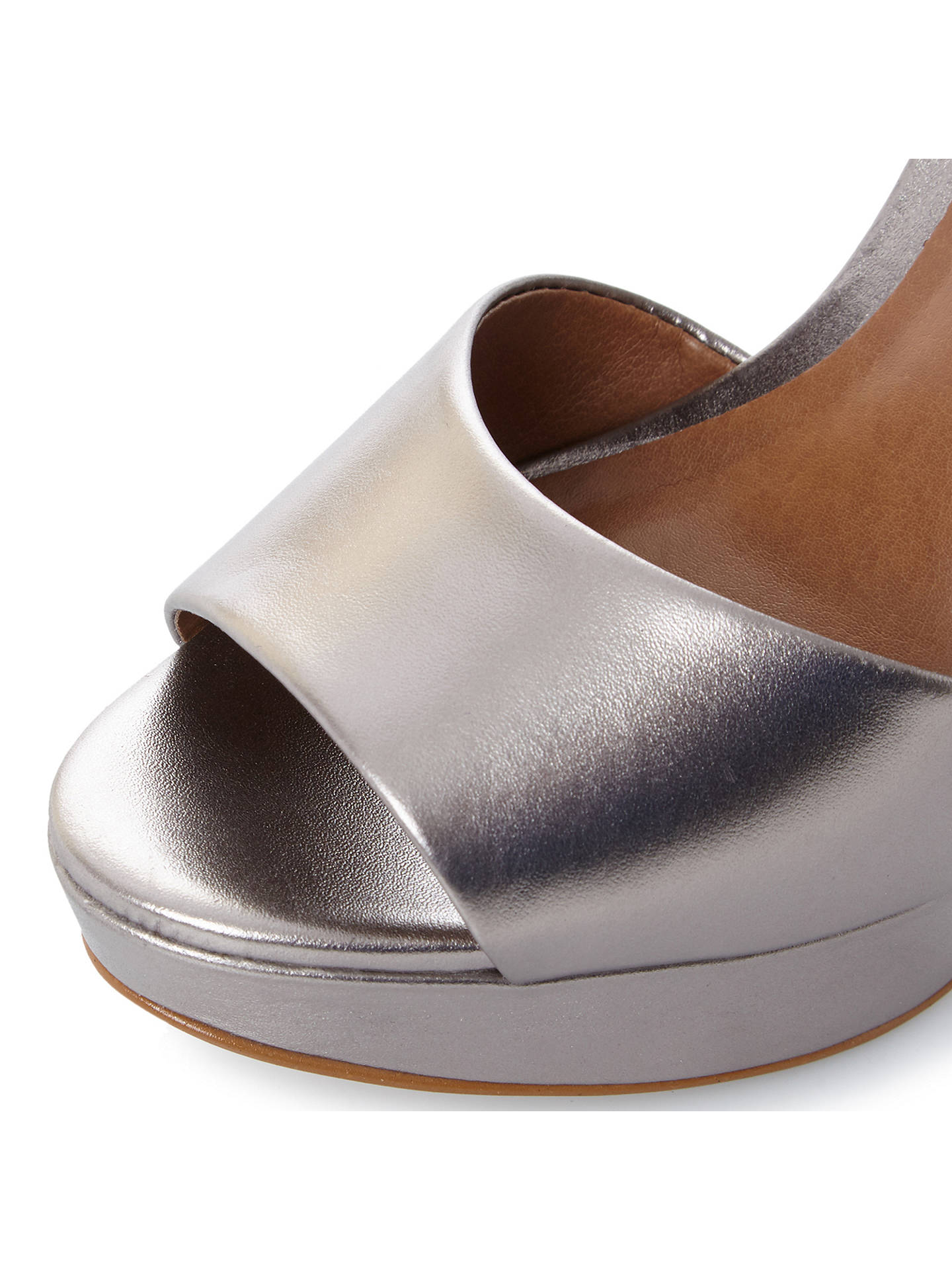 98a6a6f5b90 Steve Madden Kierra Platform Block Heeled Sandals, Pewter at John ...