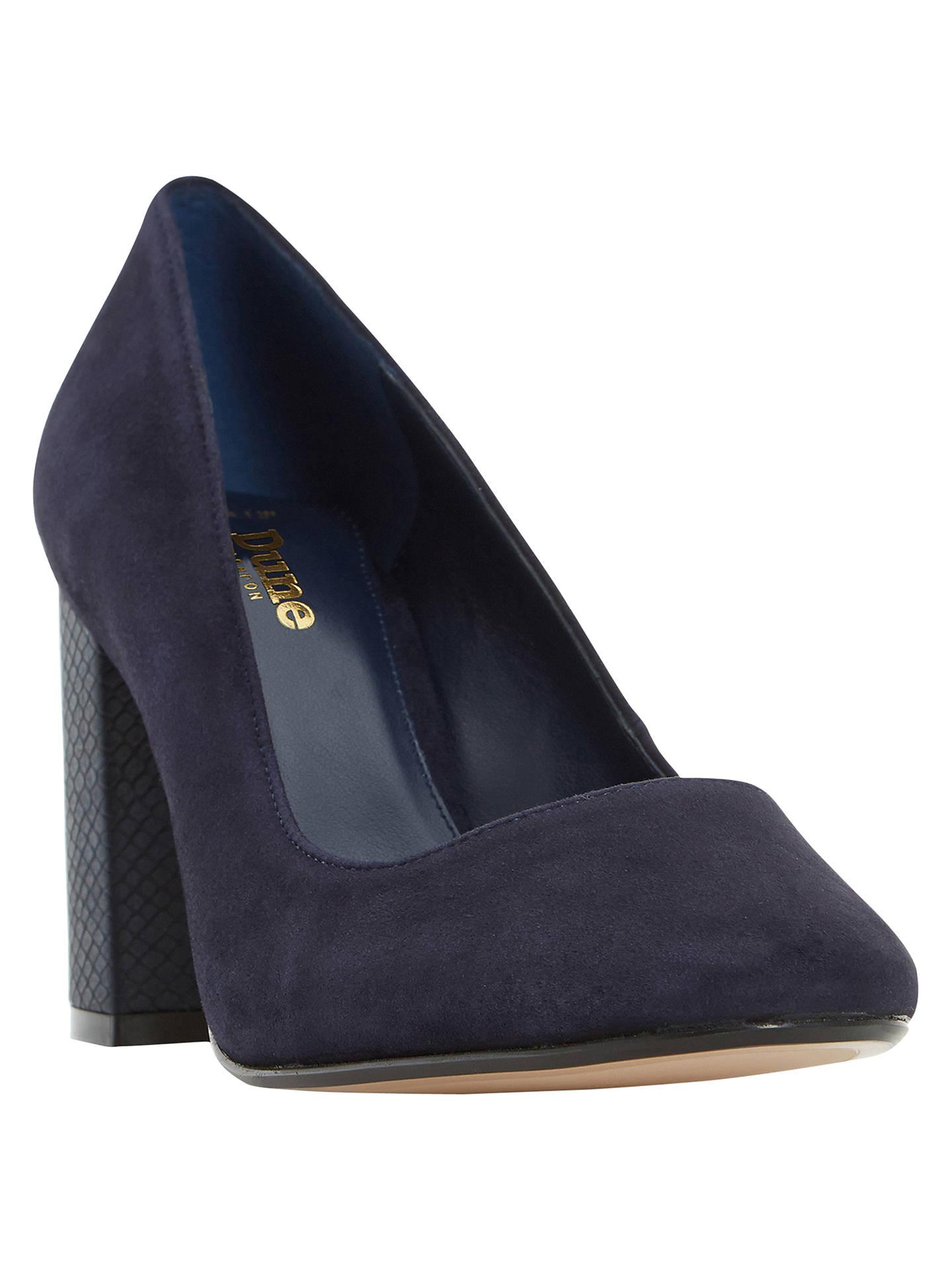 8c8c48a89 Buy Dune Wide Fit Acapela Block Heeled Court Shoes