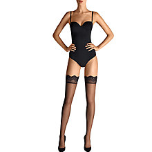 Buy Wolford 15 Denier Lace Top Hold Ups, Black Online at johnlewis.com