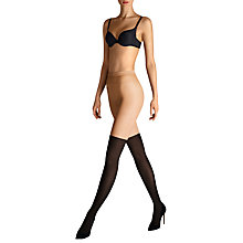 Buy Wolford 15 Denier Over The Knee Tights, Black/Neutral Online at johnlewis.com