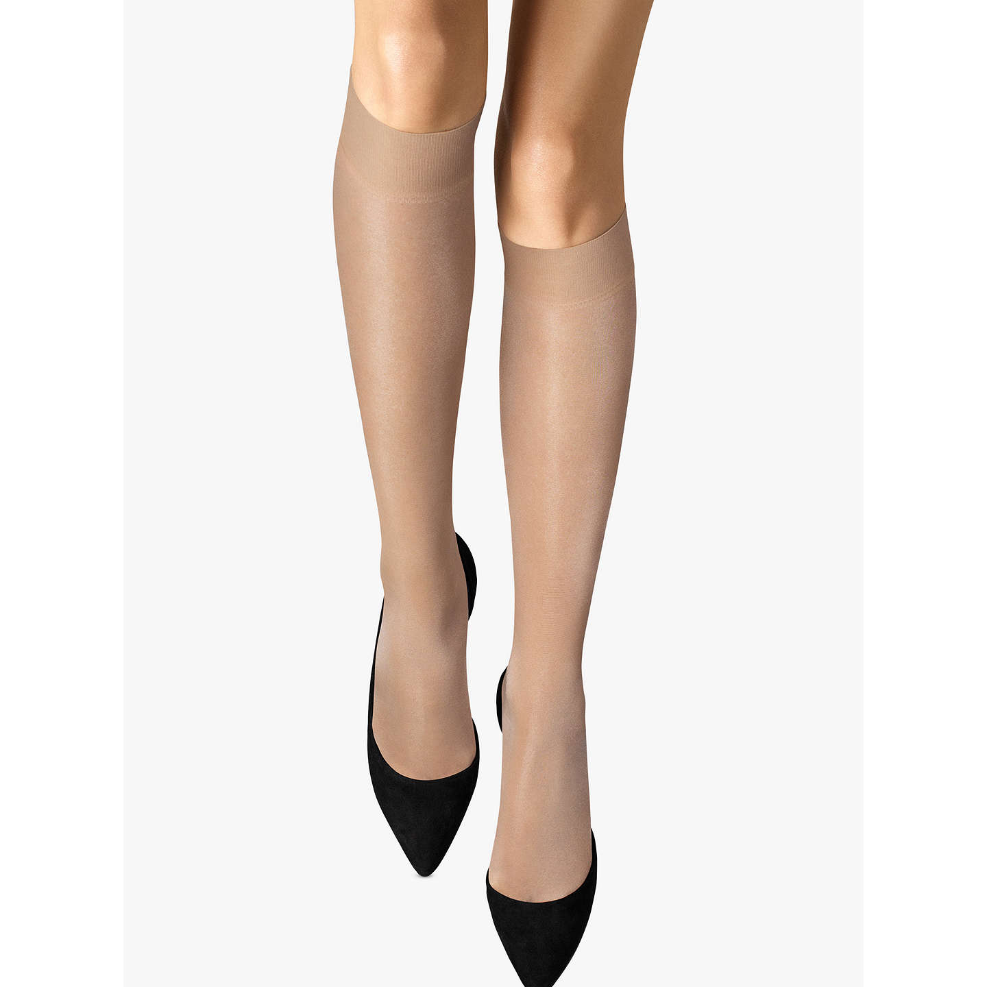 BuyWolford 20 Denier Satin Touch Knee High Socks, Cosmetic, S Online at johnlewis.com