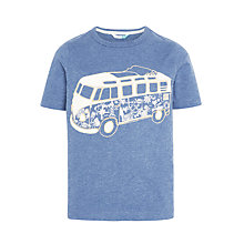 Buy John Lewis Boys' Short Sleeve Glow In The Dark Camper Van T-Shirt, Blue Online at johnlewis.com