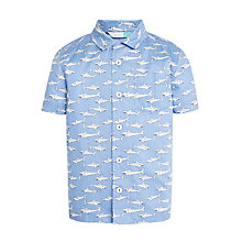 Buy John Lewis Boys' Shark Print Shirt, Blue Online at johnlewis.com