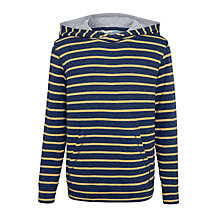 Buy John Lewis Boys' Double Face Stripe Hoodie, Navy Online at johnlewis.com