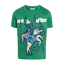 Buy John Lewis Boys' Knight and Castle Applique T-Shirt, Green Online at johnlewis.com