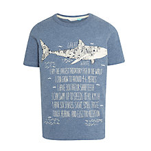 Buy John Lewis Boys' Glow In The Dark Doodle Shark T-Shirt, Light Navy Online at johnlewis.com