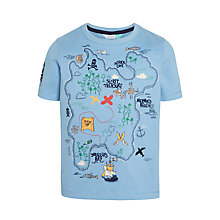 Buy John Lewis Boys' Treasure Map T-Shirt, Blue Online at johnlewis.com