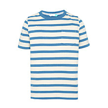 Buy John Lewis Boys' Core Stripe T-Shirt, White/Blue Online at johnlewis.com