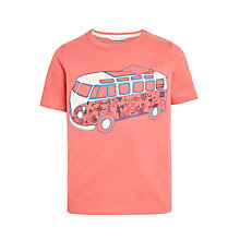 Buy John Lewis Boys' Short Sleeve Glow In The Dark Camper Van T-Shirt, Pink Online at johnlewis.com