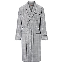 Buy Otis Batterbee Prince of Wales Check Cotton Robe, Grey Online at johnlewis.com
