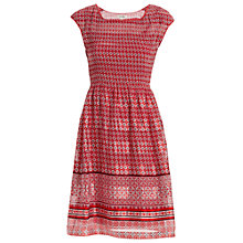 Buy Max Studio Smocked Pleat Dress, Red Coral Online at johnlewis.com