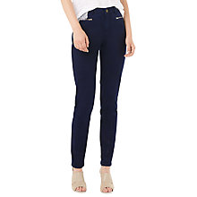 Buy Phase Eight Victoria Brushed Zip Jeans, Indigo Online at johnlewis.com