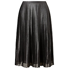 Buy Phase Eight Sia Shimmer Pleated Skirt, Silver Online at johnlewis.com