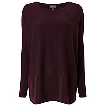 Buy Phase Eight Nella Woven Panel Jumper, Wine Online at johnlewis.com
