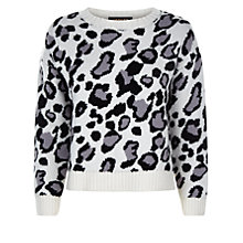 Buy Donna Ida for Jaeger Early Edie The Leopard Curved Jumper, A Modern Animal Online at johnlewis.com