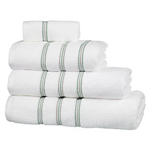 Buy John Lewis Croft Collection Chilham Towels, White / Sorrel Online at johnlewis.com