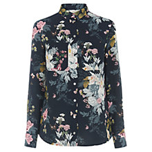 Buy Oasis Botanical Bouquet Shirt, Multi Blue Online at johnlewis.com